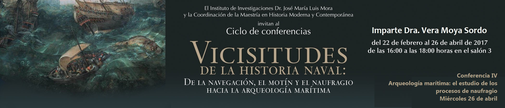 Ciclo de conferencias Vicisitudes de la historia naval