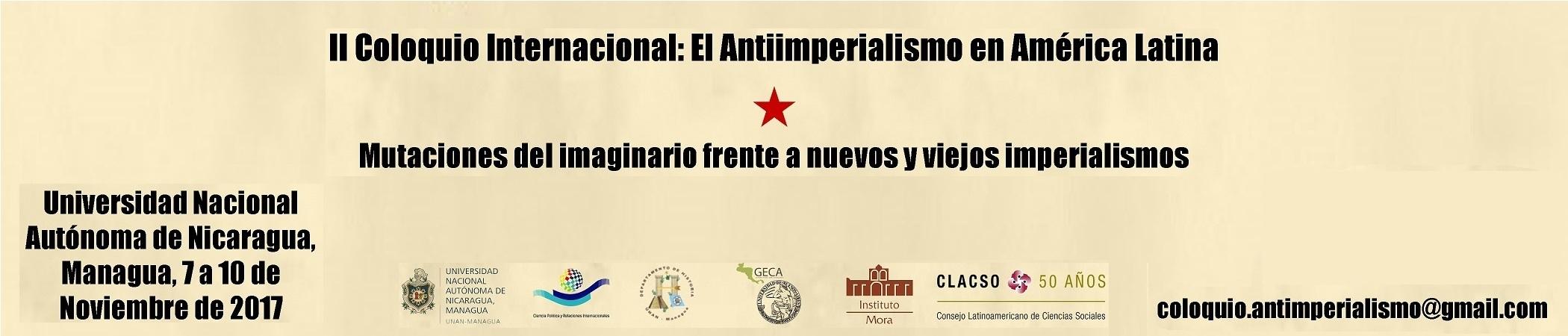 II Coloquio Internacional: El Antiimperialismo en América Latina