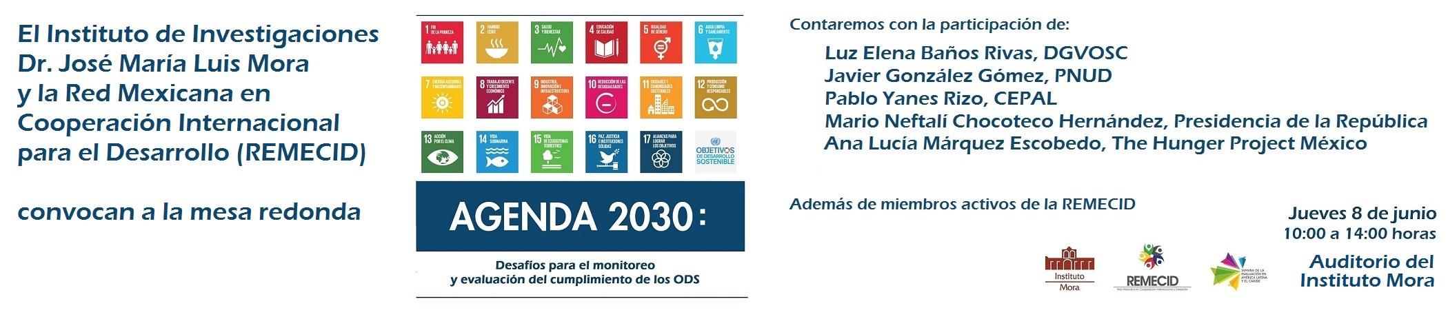 Mesa redonda Agenda 2030: Desafíos para el monitoreo y evaluación del cumplimiento de los ODS