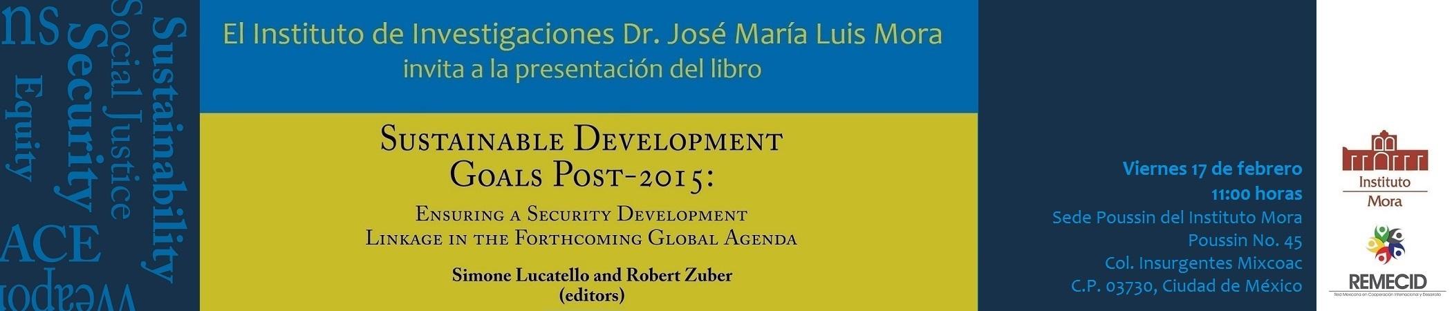 Presentación del libro Sustainable Development Goals Post-2015