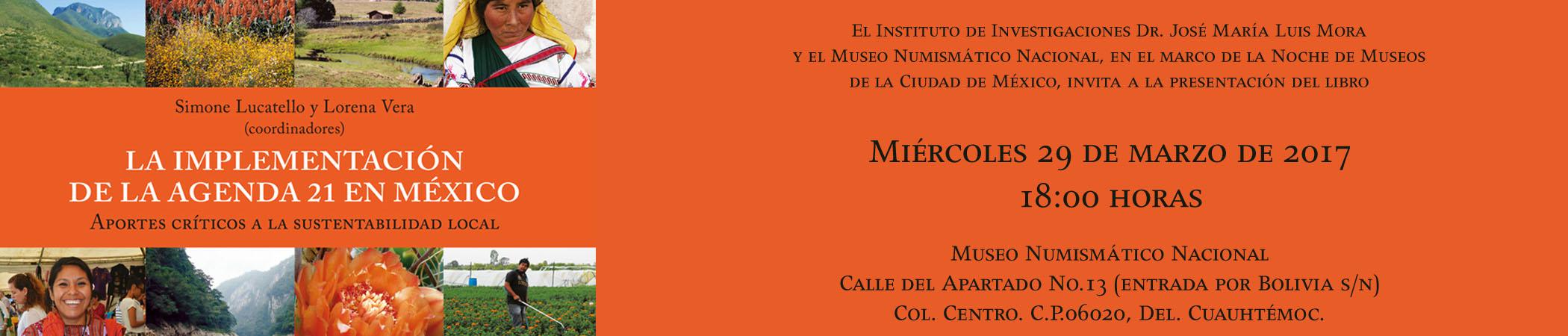 Presentación del libro La implementación de la Agenda 21 en México