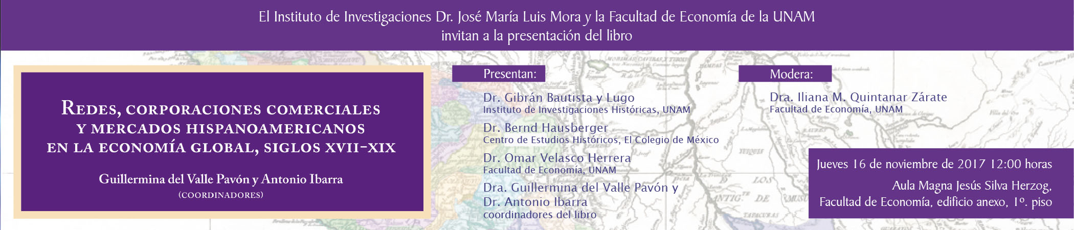 Presentación del libro Redes, corporaciones comerciales y mercados hispanoamericanos en la economía global