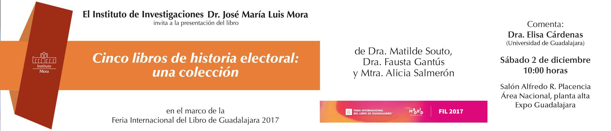Presentación de Cinco libros de historia electoral: una colección