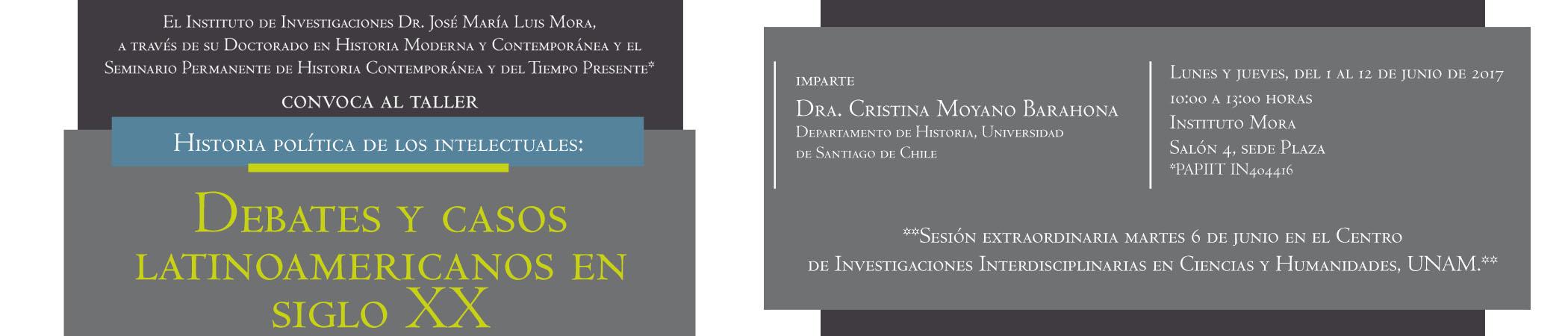 Taller Historia política de los intelectuales: Debates y casos latinoamericanos en siglo XX