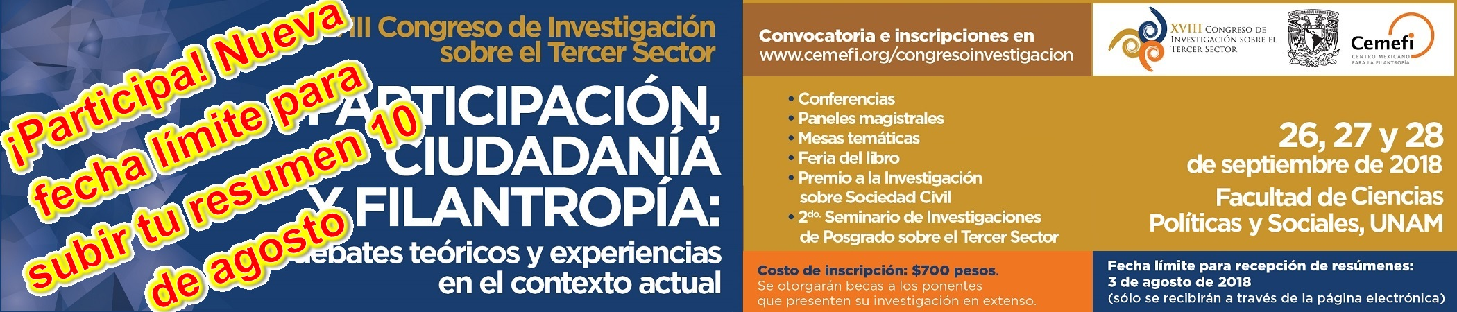 XVIII Congreso de Investigación sobre el Tercer Sector