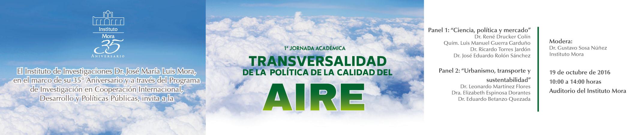 1ª Jornada Académica Transversalidad de la Política de la Calidad del Aire