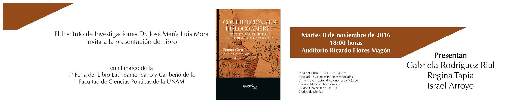Presentación del libro Contribución a un diálogo abierto
