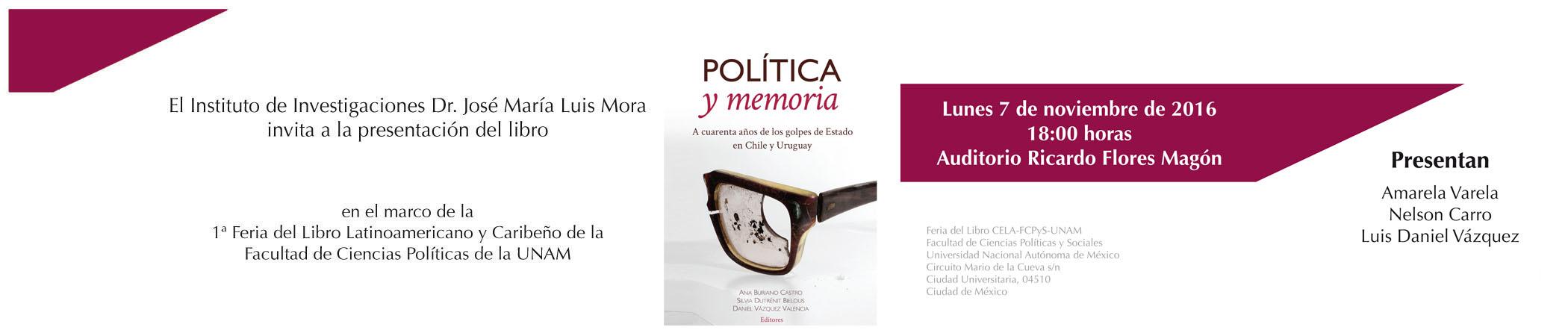 Presentación del libro Política y memoria
